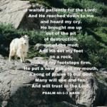 Psalm 40:1-3 NASB