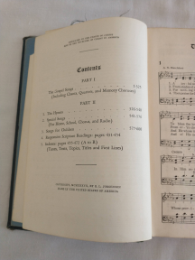 Great Songs of the Church Contents Page