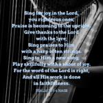 Psalm 33:1-4